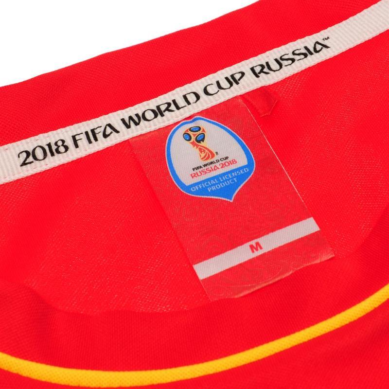 Tričko FIFA World Cup Russia 2018 Spain Poly T Shirt Mens Red