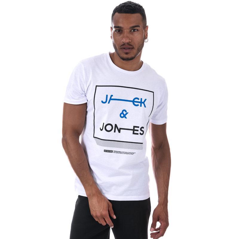 Tričko Jack Jones Mens Booster 518 T-Shirt White