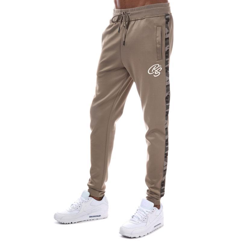 Tepláky Crosshatch Black Label Mens Montanas Tricot Track Pants Oatmeal
