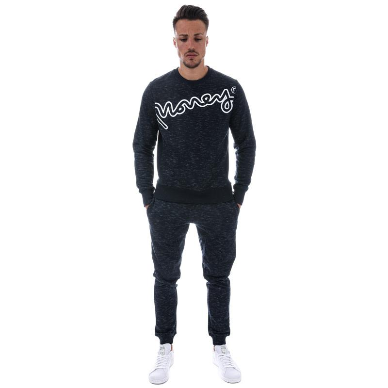 Mikina Money Mens Hardway Crew Sweat Navy