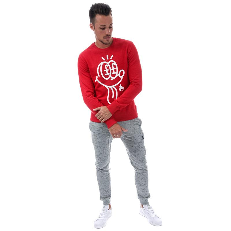 Mikina Money Mens Jackpot Crew Sweat Grey Marl