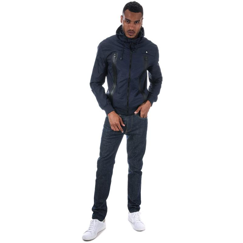 Money Mens Signature Hood Windchester Jacket Navy