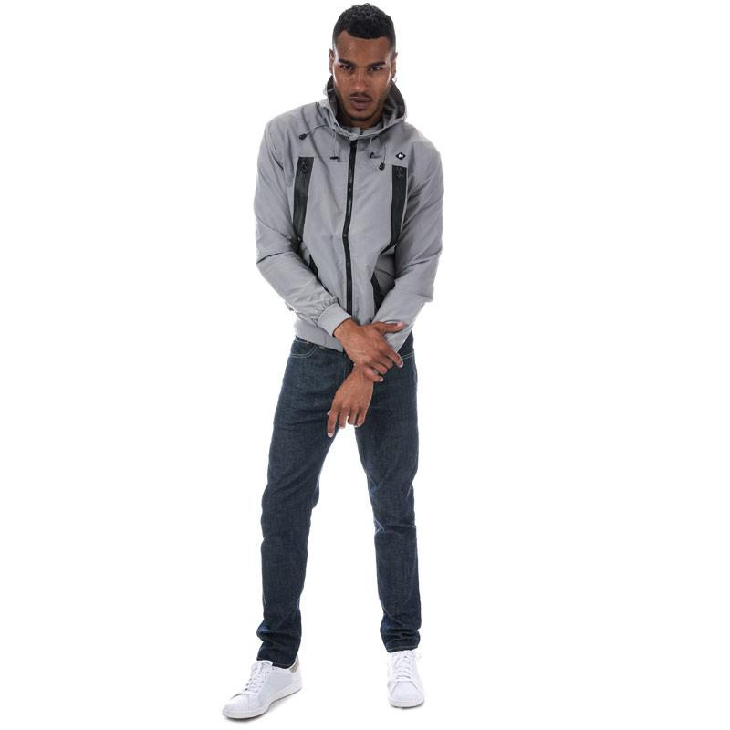 Money Mens Signature Hood Windchester Jacket Grey