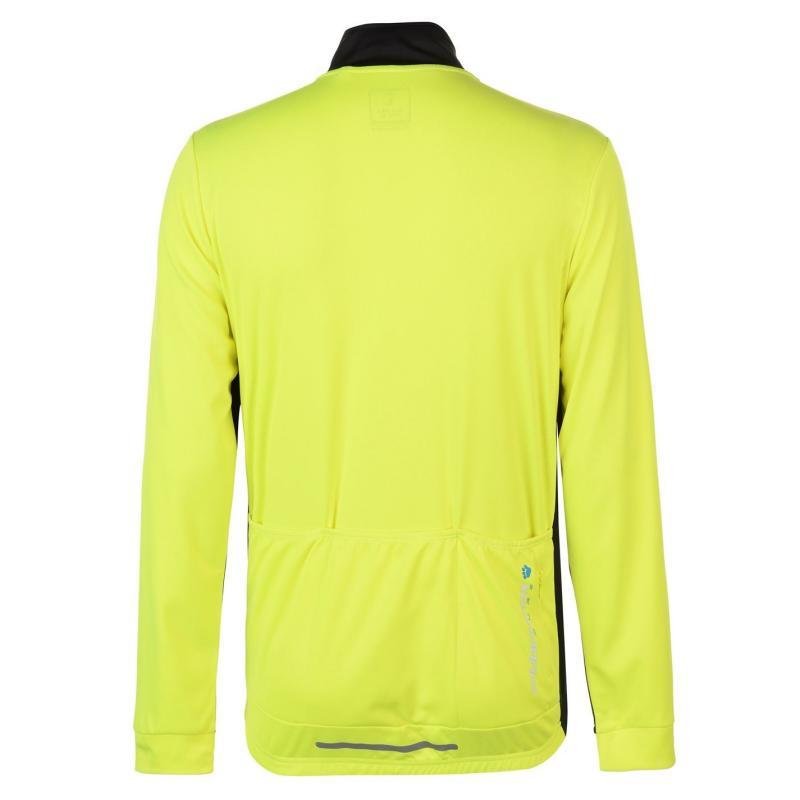Tričko Muddyfox Pure Long Sleeve Jersey Mens Black/Blue