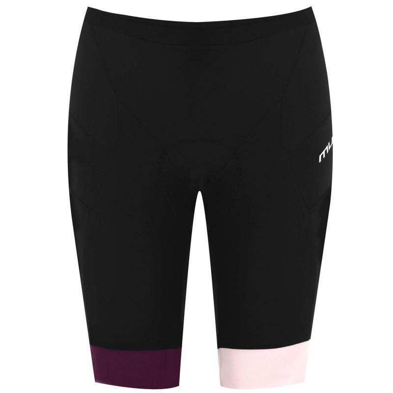 Muddyfox Pure Padded Cycle Shorts Ladies Blk/Prpl/Berry