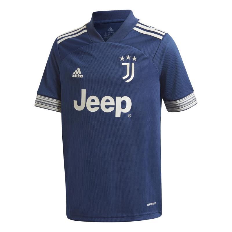 Adidas Juventus Away Shirt 2020 2021 Junior Blue