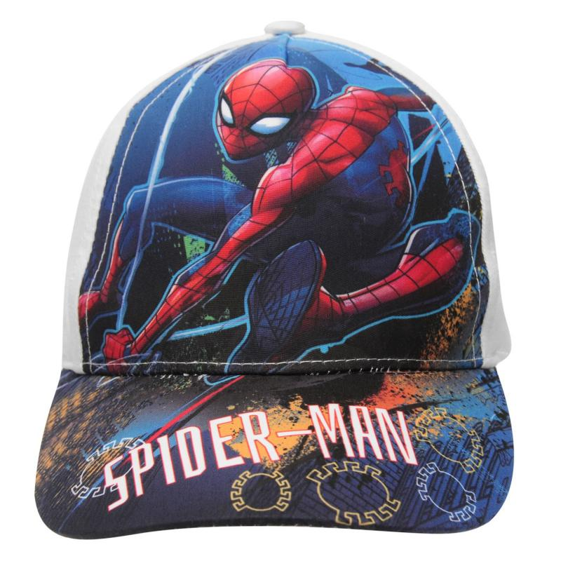 Character Peak Cap SpidermanWhite2