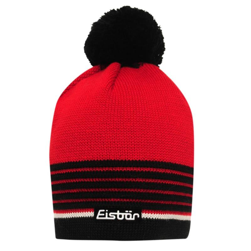 Eisbär Harper Beanie Hat Mens Black/Yellow