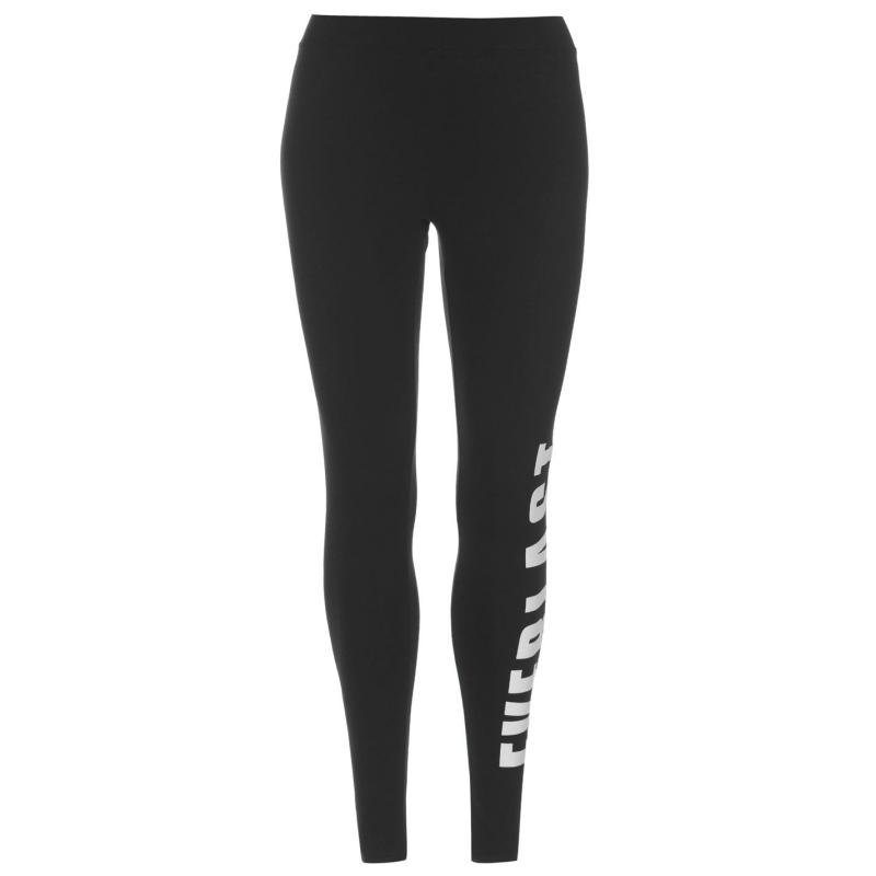 Everlast Large Logo Leggings Ladies Black/White