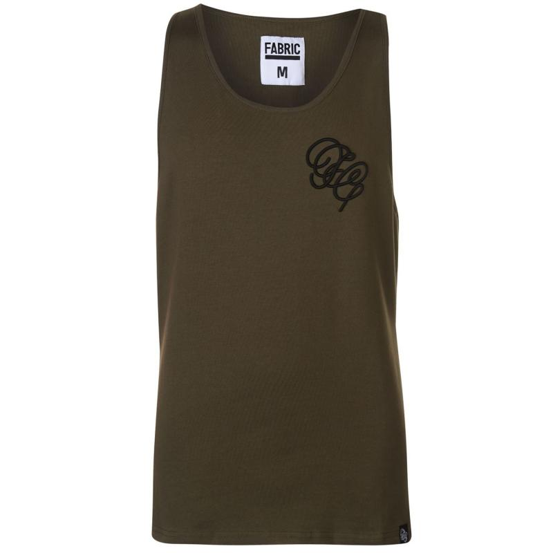 Tílko Fabric Embroidered Vest Khaki