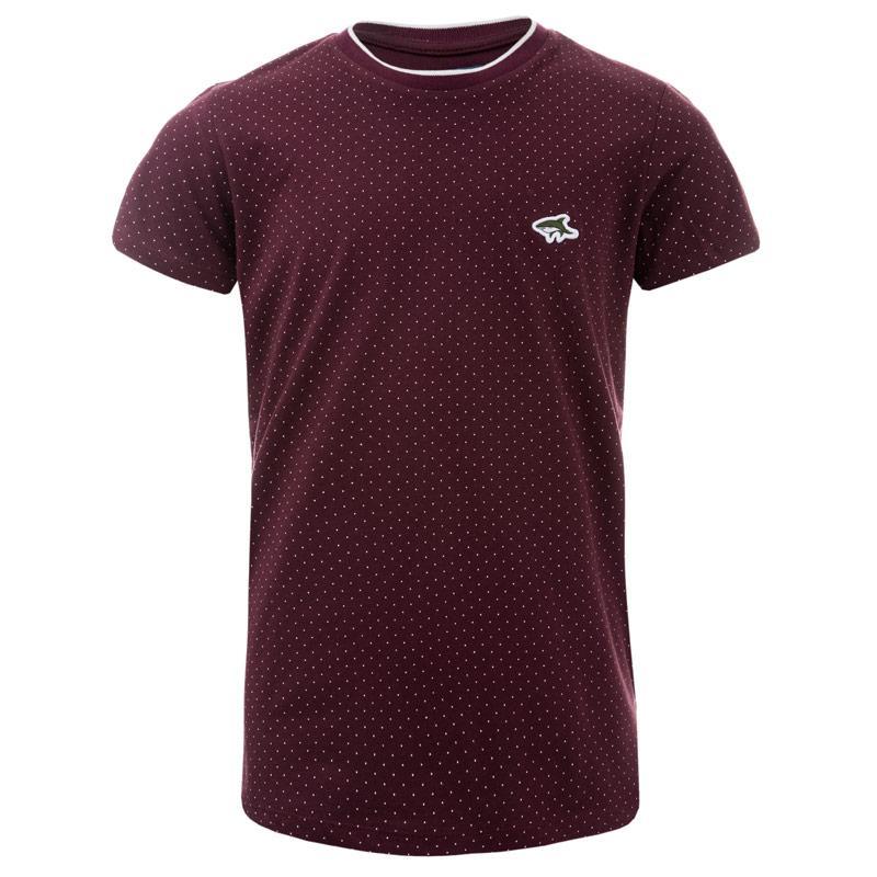 Tričko Le Shark Junior Boys Kingward 2 T-Shirt wine