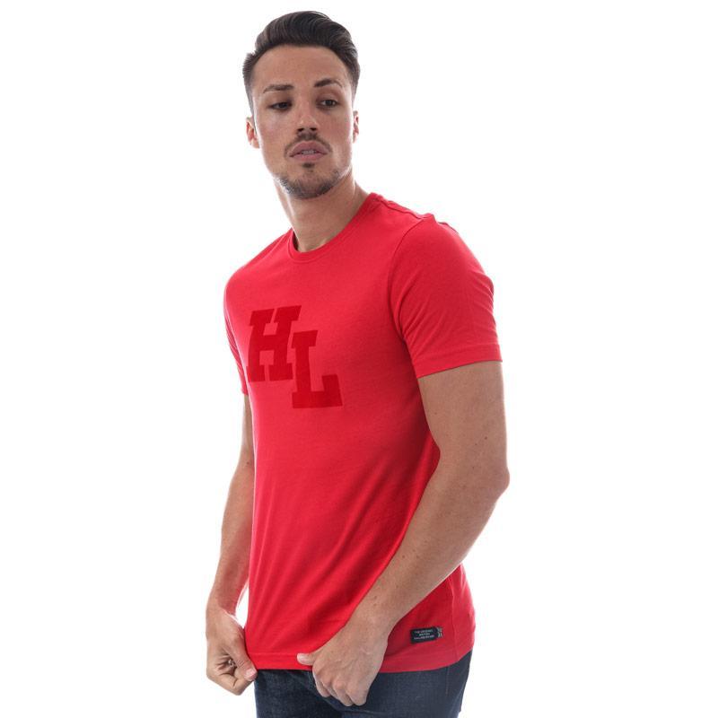 Tričko Henri Lloyd Mens Garrigill Printed T-Shirt Red
