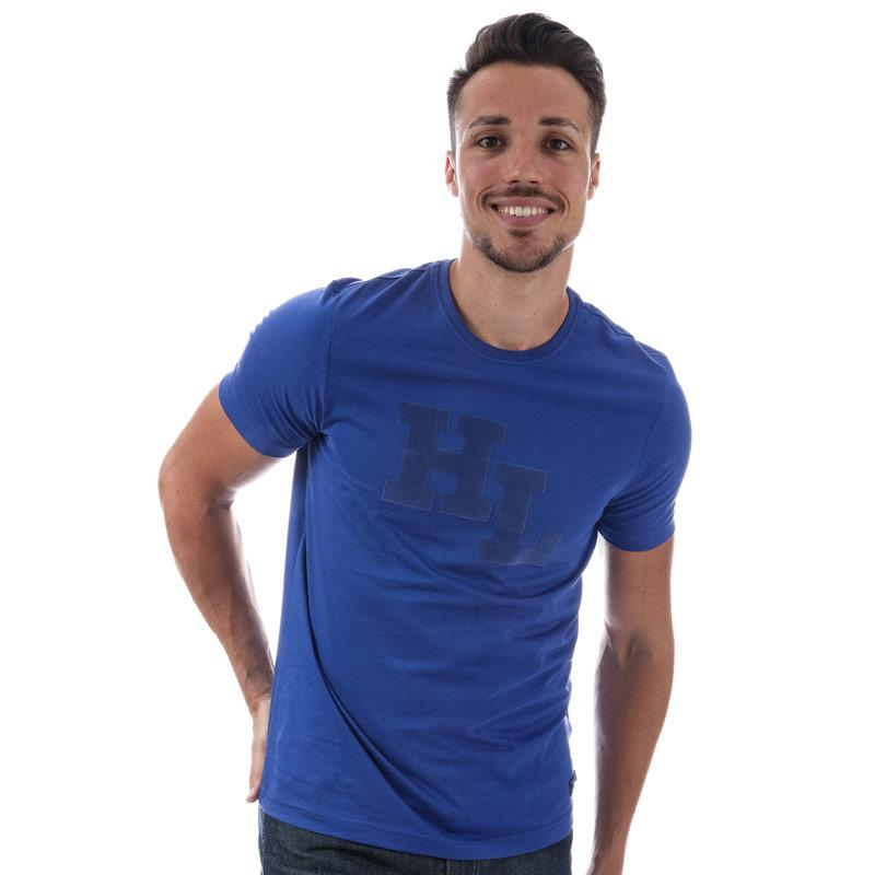 Tričko Henri Lloyd Mens Garrigill Printed T-Shirt Blue
