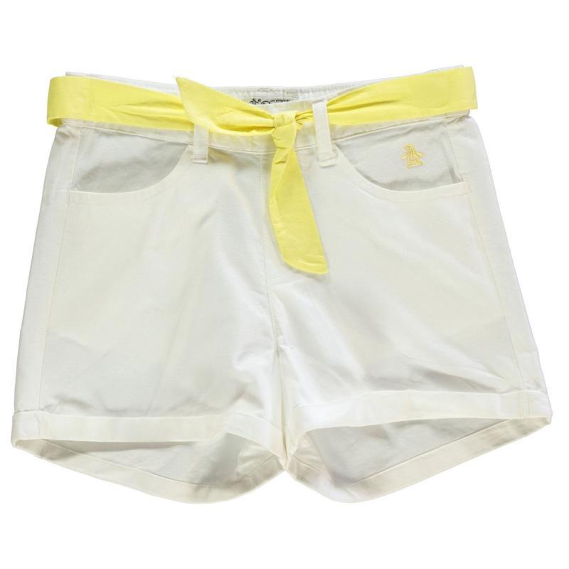Penguin Cotton Shorts Junior Girls Bright White