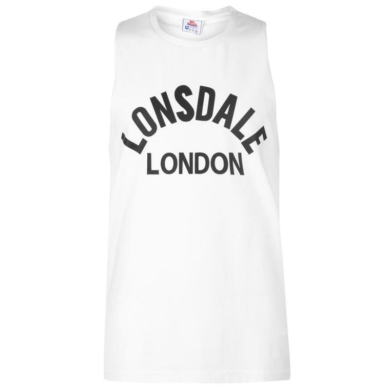Tílko Lonsdale Muscle Vest Mens White