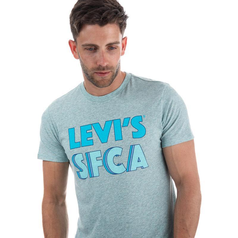 Tričko Levis Mens Graphic Logo T-Shirt Green