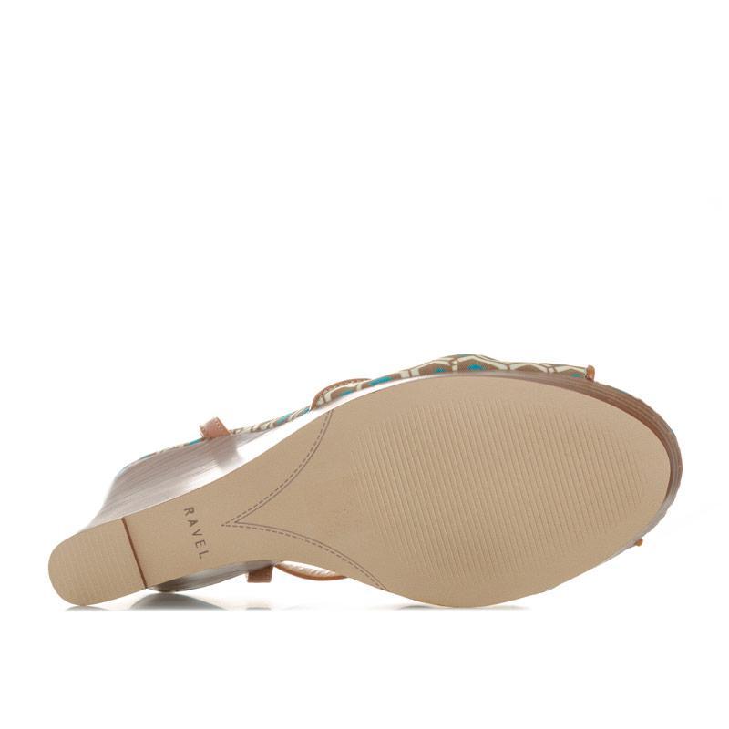 Ravel Womens Beatrice Wedge Sandals aqua