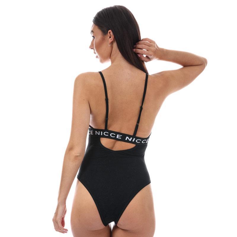 NICCE Womens Blaze Cut Out Bodysuit Black