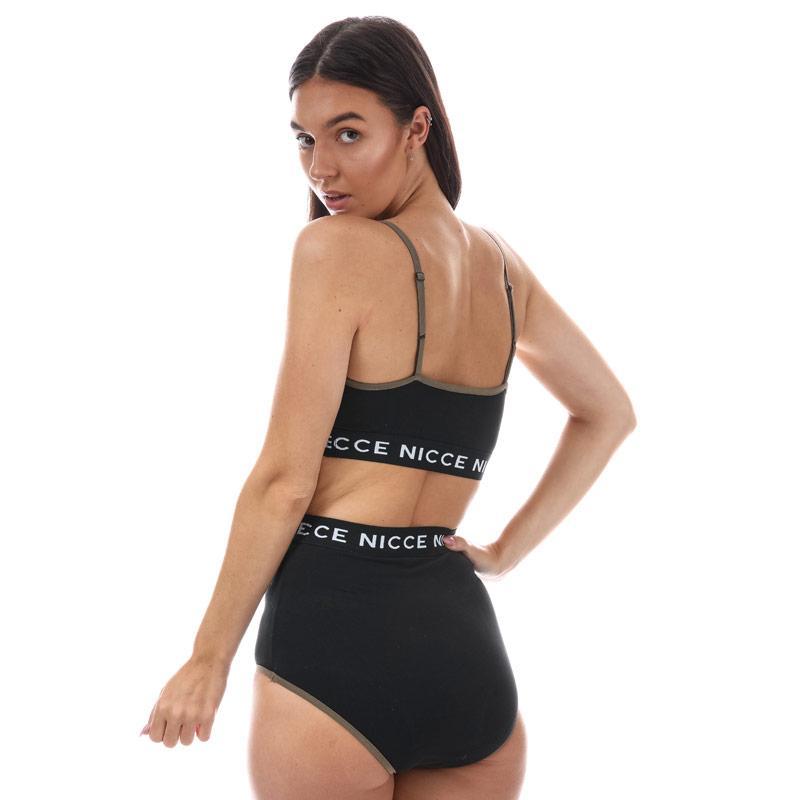 Spodní prádlo NICCE Womens Contrast Briefs Black