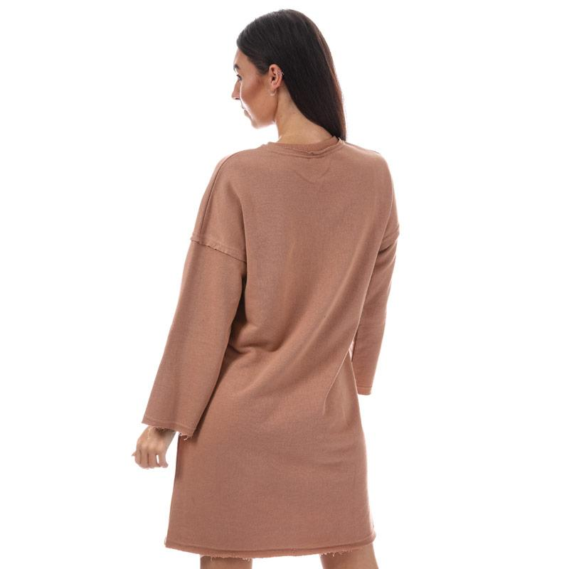 Šaty NICCE Womens Crew Neck Sweat Dress Rust