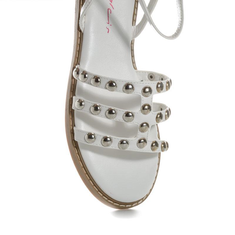 Boty Dolcis Womens Jemima Studded Sandals White