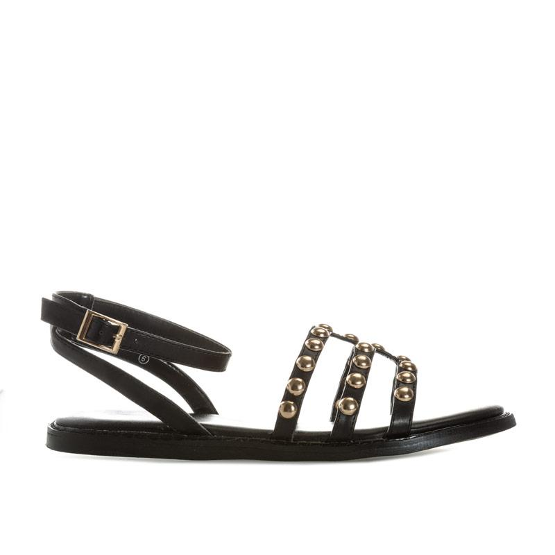 Boty Dolcis Womens Jemima Studded Sandals Black