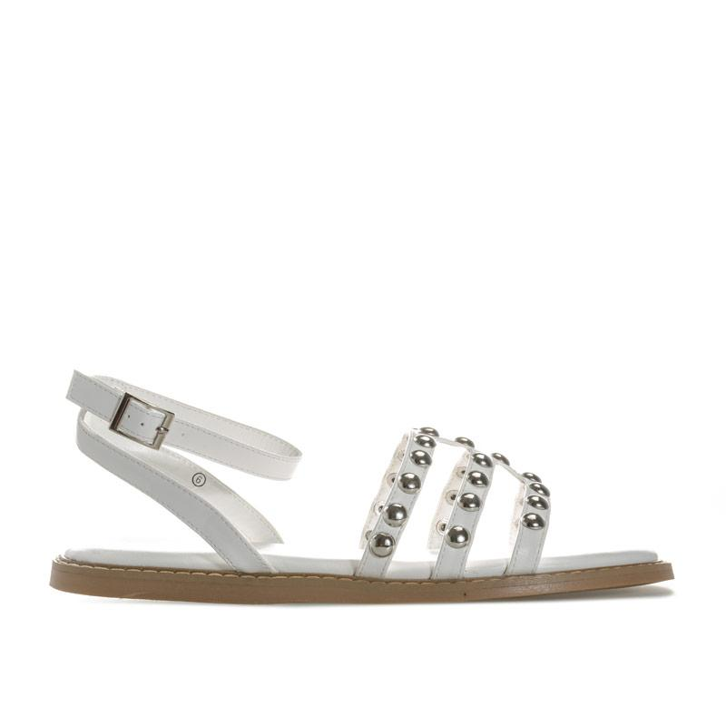 Boty Dolcis Womens Jemima Studded Sandals White