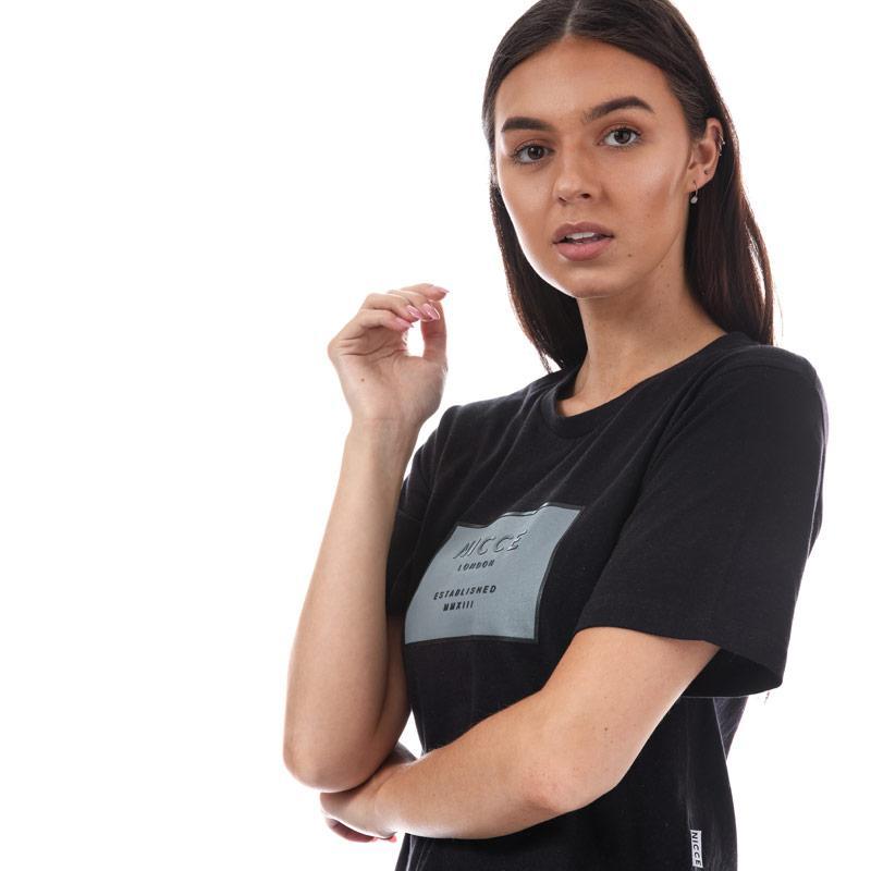 NICCE Womens Midnight Blossom T-Shirt Black
