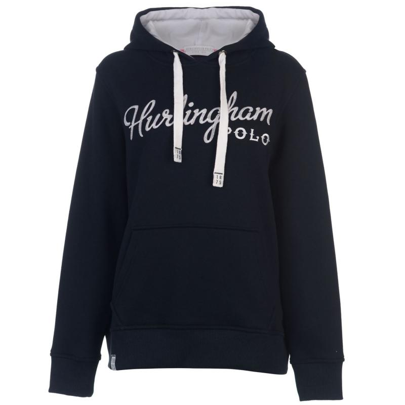 Mikina Hurlingham Polo 1875 Essential Tamara Hoody Ladies Navy