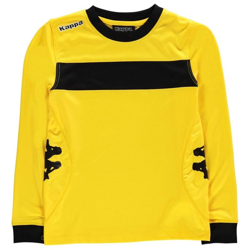 Tričko Kappa Remilio Long Sleeve T Shirt Junior Boys Yellow/Black