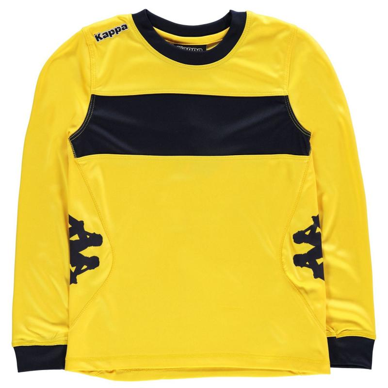 Tričko Kappa Remilio Long Sleeve T Shirt Junior Boys Yellow/Navy
