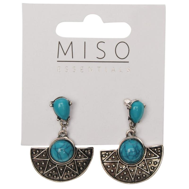 Miso Dangle Earrings Ladies Turquise