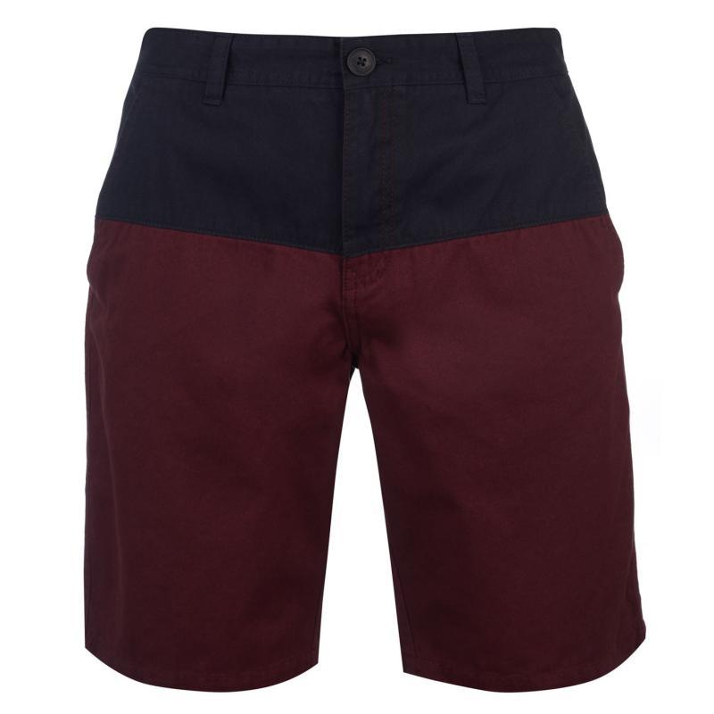 Pierre Cardin Panel Chino Shorts Mens Black/Khaki