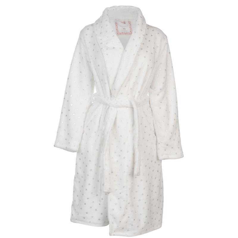 Pyžama Rock and Rags Foil Star Robe white