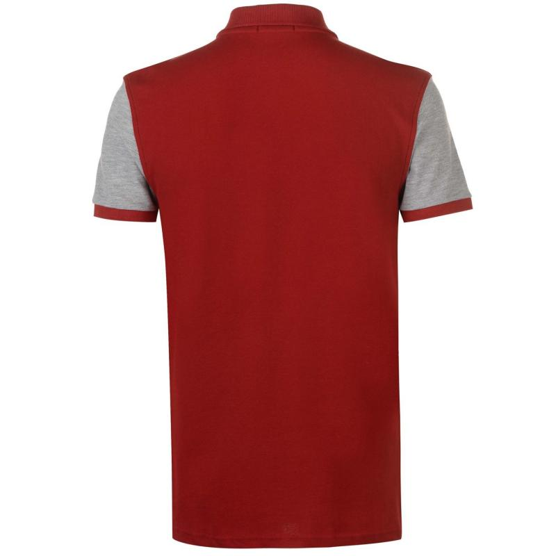 Hurlingham Polo 1875 Essential Contract Polo Shirt Mens Navy/GreyMa/Red