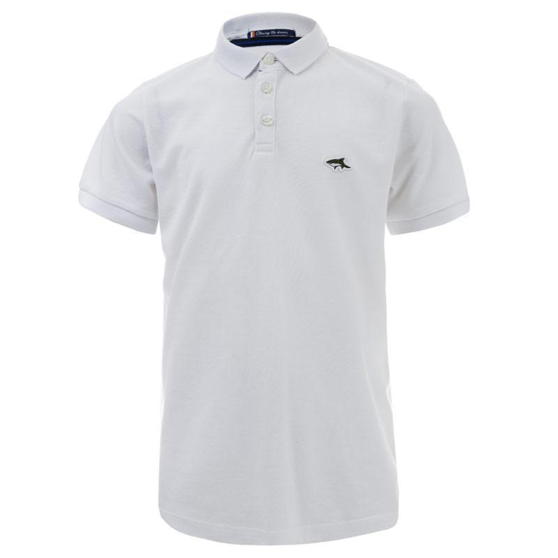 Tričko Le Shark Junior Boys Lax 2 Polo Shirt White