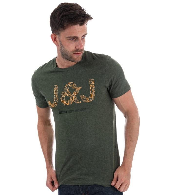 Tričko Jack Jones Mens Booster 518 T-Shirt Khaki