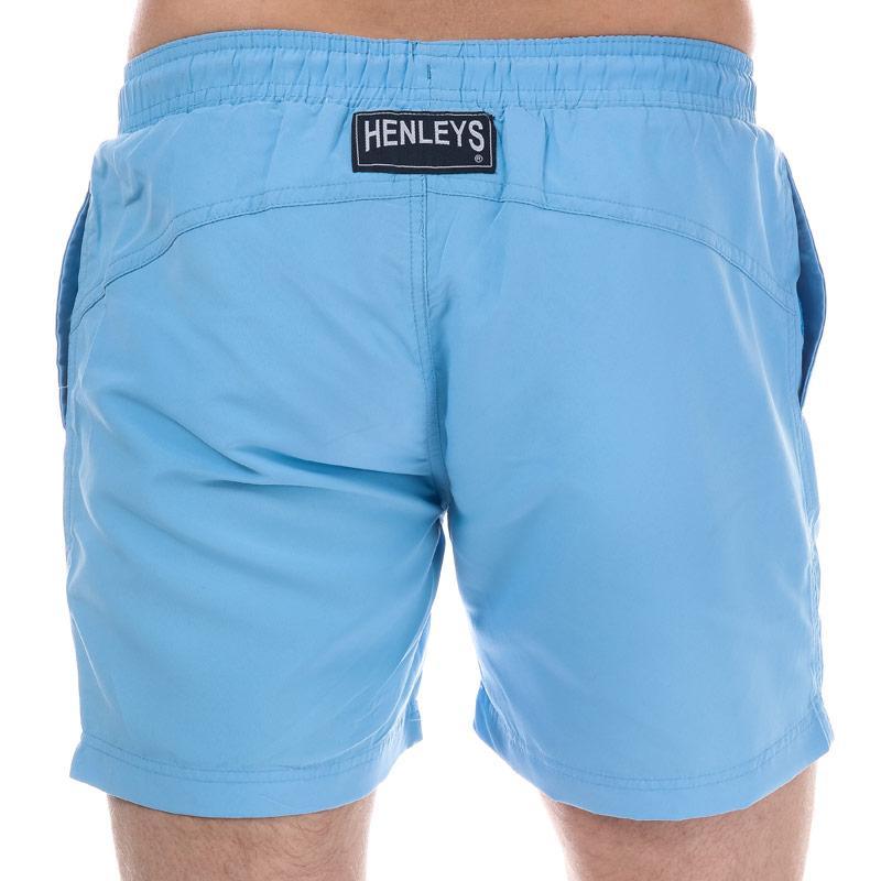 Henleys Mens Pastel Pack Swim Short Light Blue