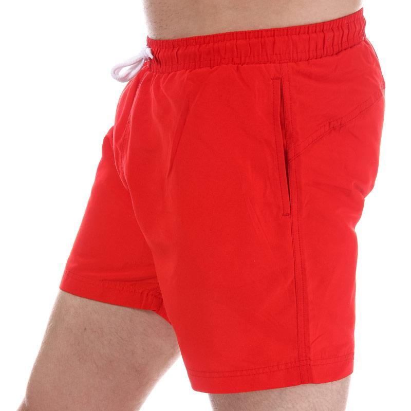 Henleys Mens Plain Pack Swim Short Red
