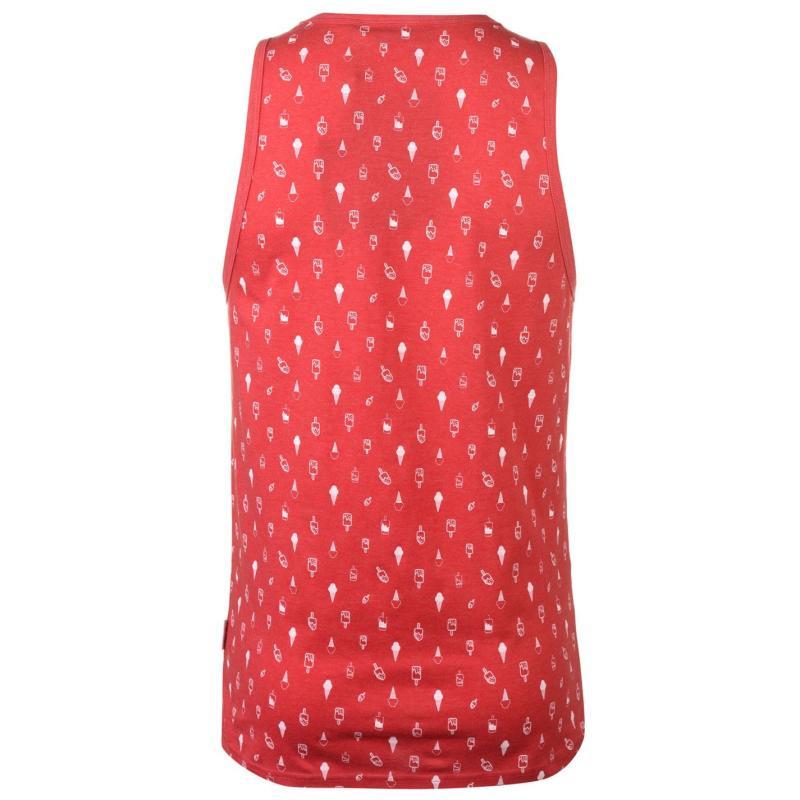 Tílko Pierre Cardin AOP Vest Mens Red Marl