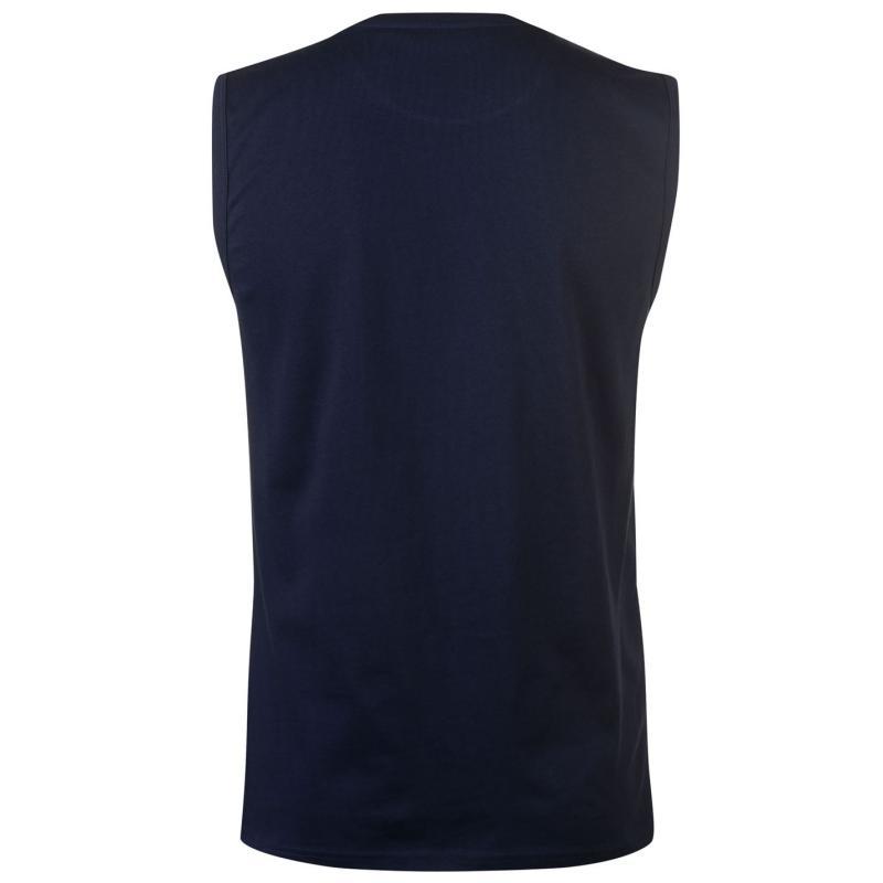 Tílko Pierre Cardin Graphic Sleeveless T Shirt Mens Navy
