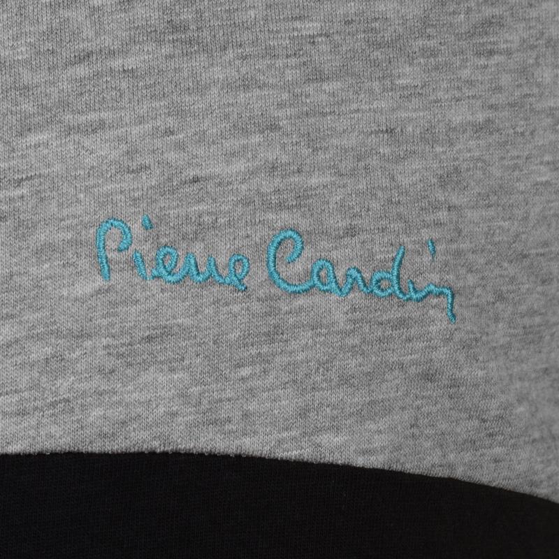 Tílko Pierre Cardin Large Cut and Sew Vest Mens Grey M/Blk/Turq
