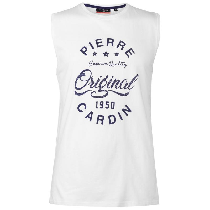 Tílko Pierre Cardin Logo Sleeveless T Shirt Mens Blue