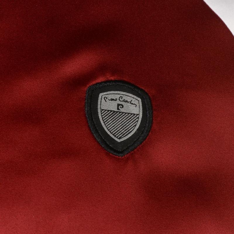 Pierre Cardin Panel Bomber Jacket Mens Dk Red/White