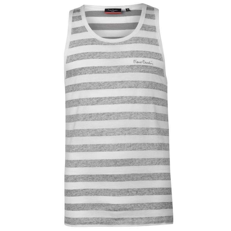 Tílko Pierre Cardin Reverse Vest Mens Red Stripe