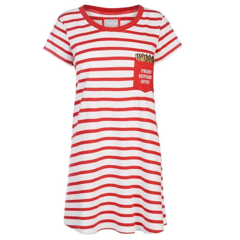 Pyžama Rock and Rags Fun Nightdress Stripes