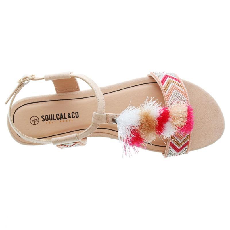 Boty SoulCal Tassle Ladies Sandals Pink