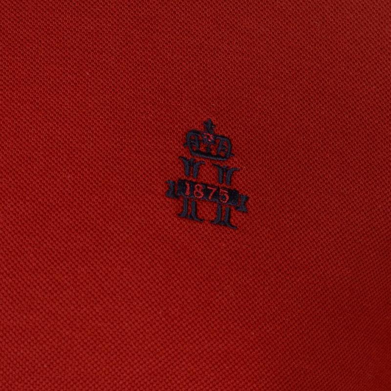 Hurlingham Polo 1875 Essential Polo Shirt Mens Red/Ruby