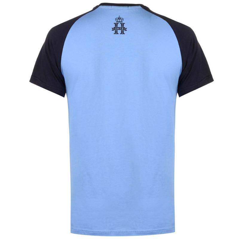 Tričko Hurlingham Polo 1875 Essential Varsity T Shirt Mens Grey Marl/Navy