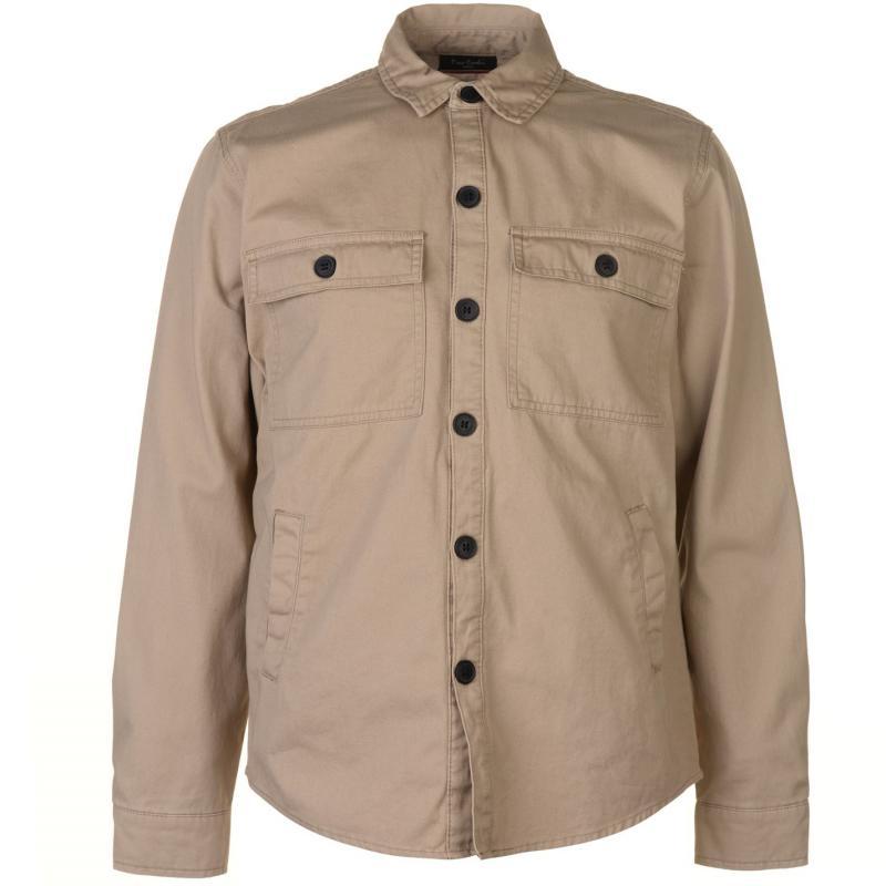 Pierre Cardin Button Shacket Mens Navy